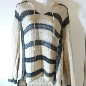 puffy Sweaters - Hooded knit sweater XL